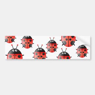 Red Ladybug Bumper Sticker
