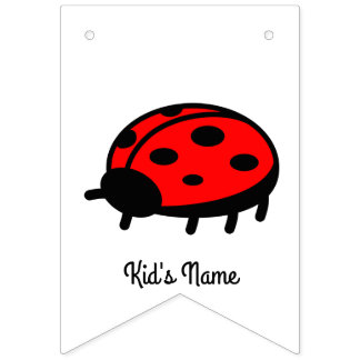 Red ladybug bunting flags