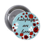 Red Ladybug Button