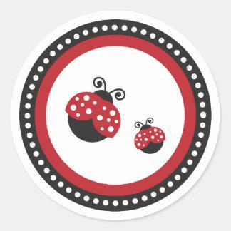 Red Ladybug Classic Round Sticker