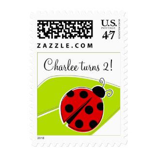 Red Ladybug Customized Postage