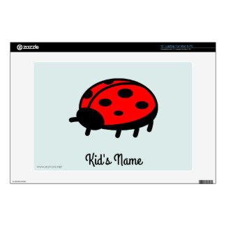 Red ladybug decal for laptop