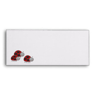 Red Ladybug Envelopes