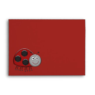 Red Ladybug  Envelopes