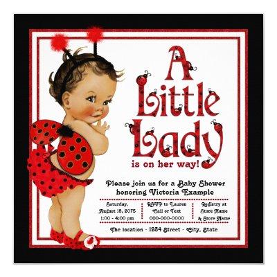 Red Black Ladybug Baby Shower Invitation Template   Zazzle.com