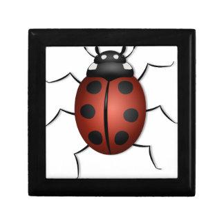 Red ladybug jewelry box