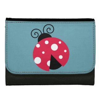 Red Ladybug Leather Wallet