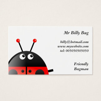 Red Ladybug, Mr Billy Bug, Business Card