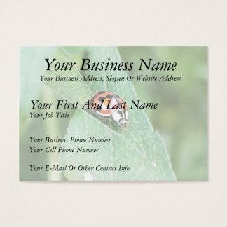 Red Ladybug On A Green Leaf Business Card