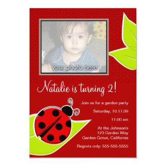Red Ladybug Photo Invite