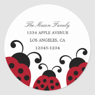 Red Ladybug Return Address Labels