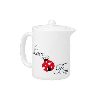 Red  Ladybug Teapot