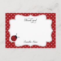 Red Ladybug Thank You Card