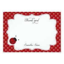 Red Ladybug Thank You Card