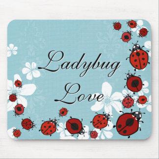 Red Ladybugs Mousepad