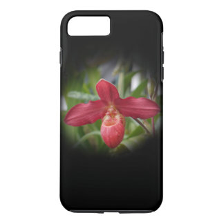 Red Lady's Slipper Orchid iPhone 7 Plus Case