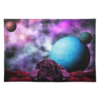 Red Lake Alien World Cloth Placemat