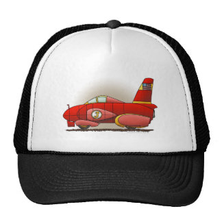 Red Land Speed Car Hats