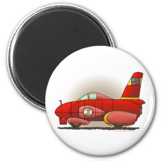 Red Land Speed Car Magnets