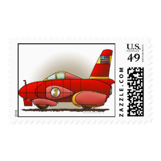 Red Land Speed Car Stamps