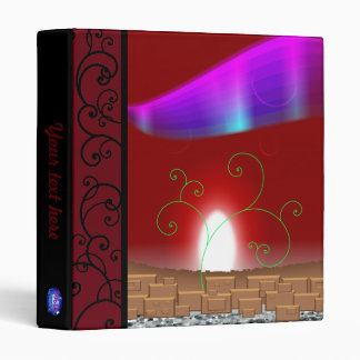 Red landscape binder (your text here)