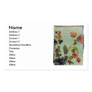 Red Lantana profile card Business Cards