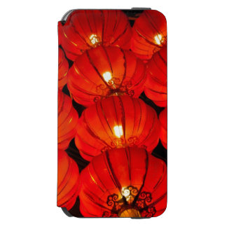 Red lantern at night iPhone 6/6s wallet case