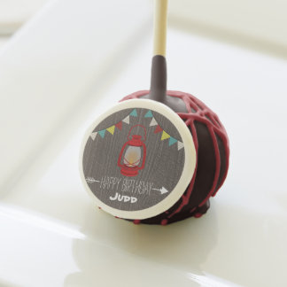 Red Lantern Camping Birthday Party Cake Pops