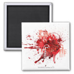 Red lantern Corps Collage 2 Inch Square Magnet