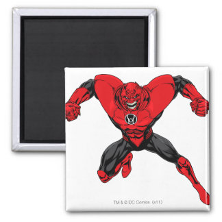 Red Lantern Corps - Rage Jump 1 2 Inch Square Magnet