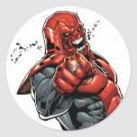 Red Lantern Corps - Rage Leaning 2 Classic Round Sticker