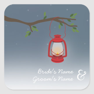Red Lantern Evening Outdoor Wedding Sticker