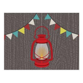Red Lantern Girls Birthday Postcard Invite