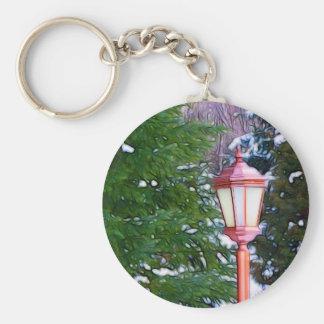 Red Lantern in winter original (Dark) Keychain