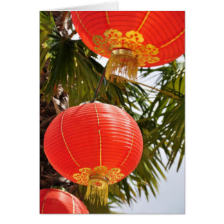 red lanterns card