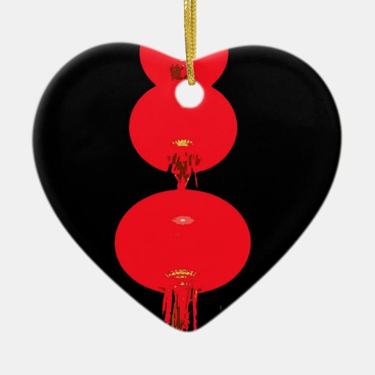 Red Lanterns Ceramic Ornament