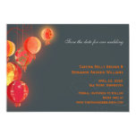 Red Lanterns Contemporary Wedding Save the Date Card
