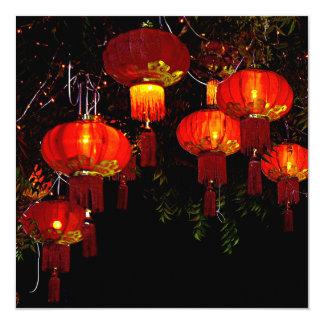 Red Lanterns Invitation Personalized Announcement