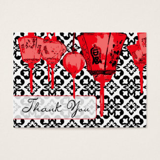 Red Lanterns TY Notecard Business Card