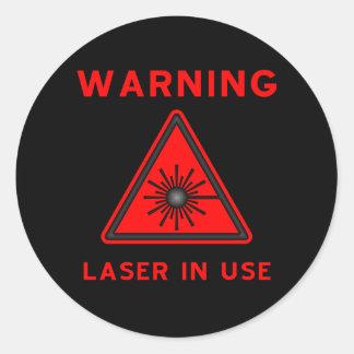 Red Laser Warning Symbol Sticker