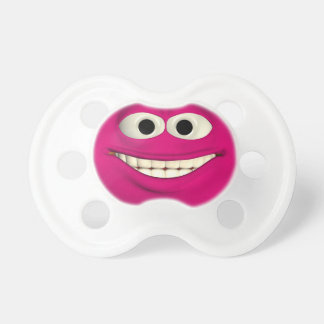 Red Laughing Face Pacifier