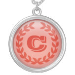 Red Laural Monogram necklace
