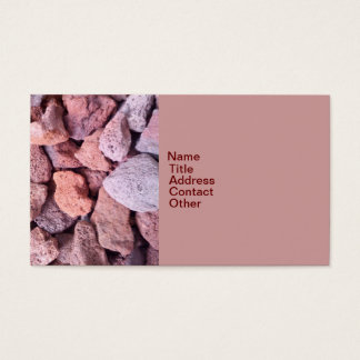 Red Lava Rock Business Card
