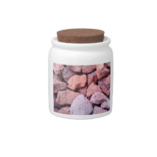 Red Lava Rock Candy Jars