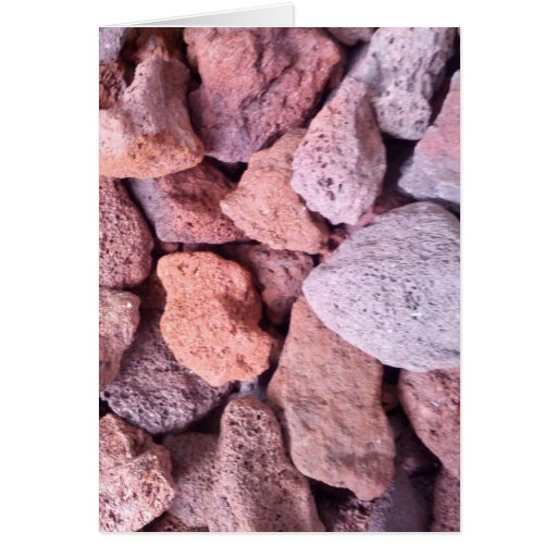 Red Lava Rock Greeting Card