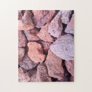 Red Lava Rock Jigsaw Puzzle