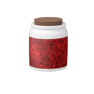 Red Lava Rock Texture Candy Dish