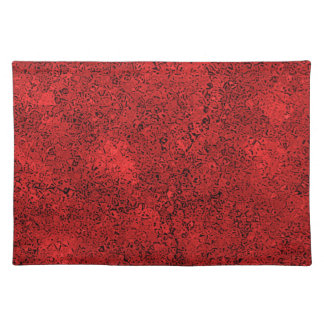 Red Lava Rock Texture Placemats