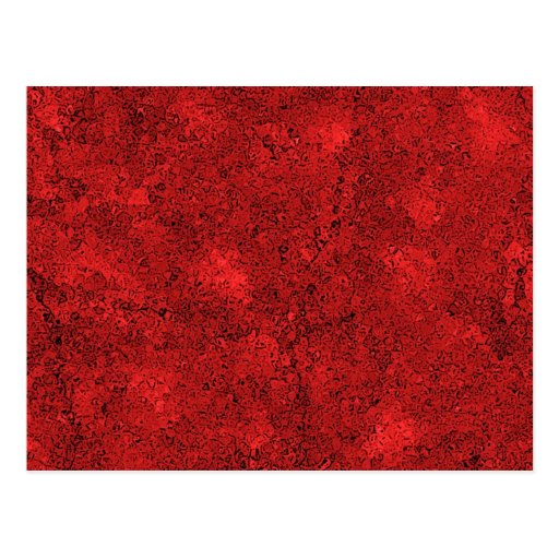 Red Lava Rock Texture Post Card
