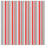 [ Thumbnail: Red, Lavender & Dark Gray Colored Stripes Pattern Fabric ]